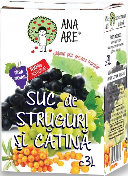 Suc de struguri si catina 100% natural 3L - Ana are