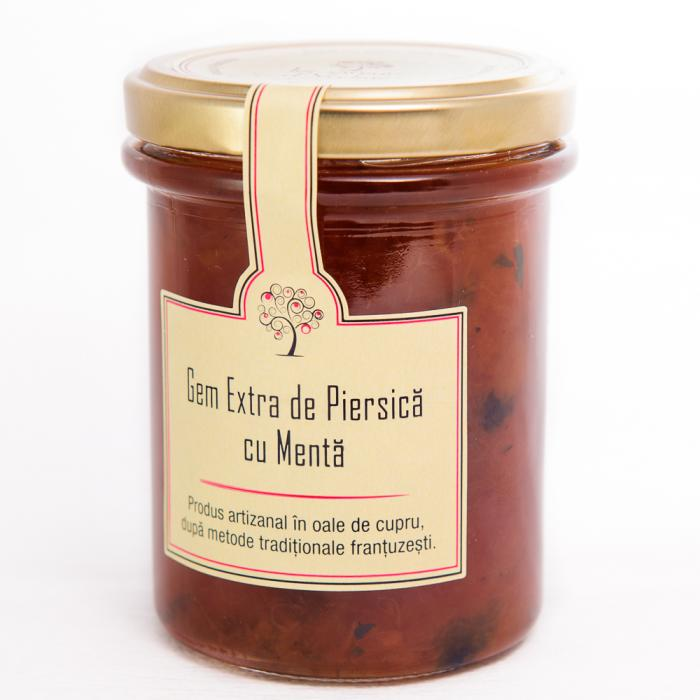 Gem de Piersica cu Menta 230g - Les saveurs d'Yveline