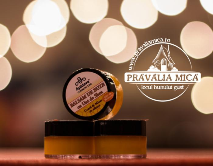Balsam de buze cu miere si ceara de albine 10ml - Apidava