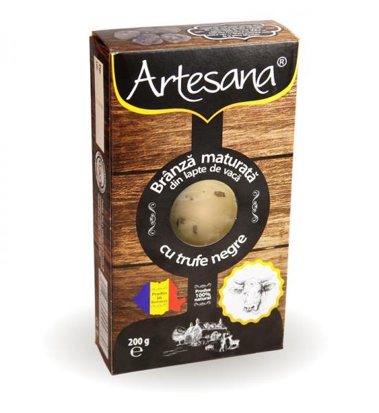 Branza maturata de vaca cu trufe negre 200g - Artesana