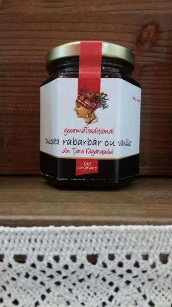 Dulceata de rabarbar cu vanilie 200g - Gourem Traditional 0