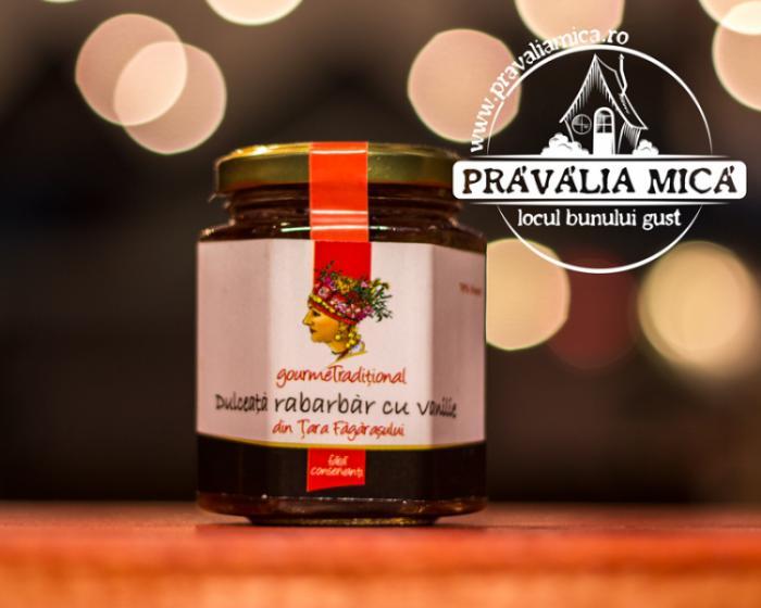 Dulceata de rabarbar cu vanilie 200g - Gourem Traditional 1