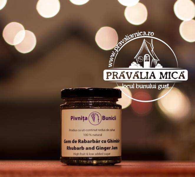 Gem de rabarbar cu vanilie 190g - Pivnita Bunicii 0