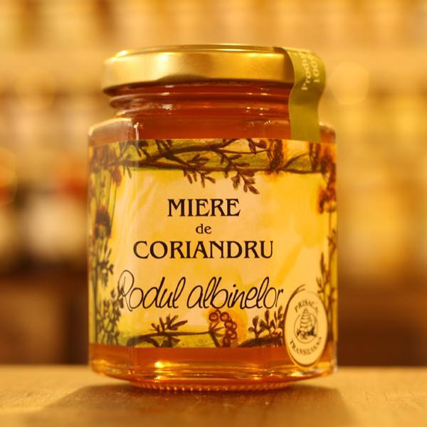 """Miere de coriandru 250g """"Rodul albinelor"""" - Prisaca Transilvania"""