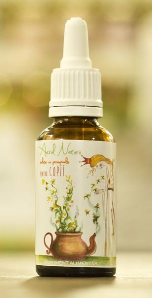 Soluţie cu propolis pentru copii (raceli) 20 ml - Aburii Naturii
