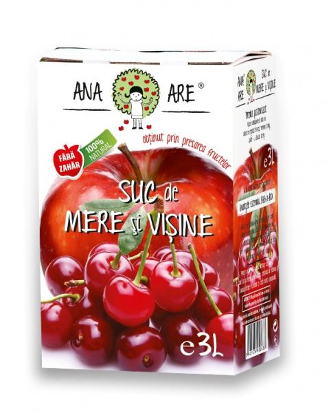 Suc de mere si visine 100% natural 3L - Ana are 0