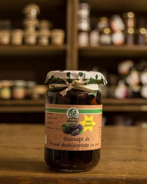 Dulceata de prune deshidratate cu nuci fara zahar 250g - Bio Terra Topoloveni