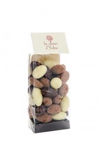 Migdale invelite in ciocolata asortata 100g