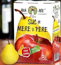 Suc de mere si pere 100% natural 3L - Ana are