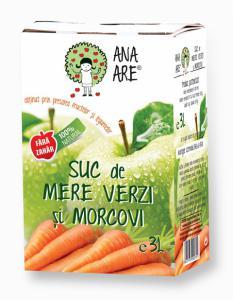 Suc de mere verzi si morcovi 100% natural 3L - Ana are